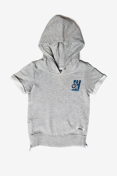 Lil Homme Faucon SS Hoodie Grey Heather