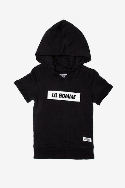 Lil Homme Incline SS Hoodie Black