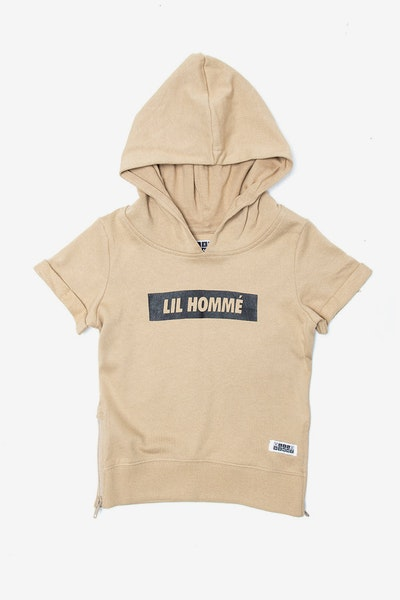 Lil Homme Incline SS Hoodie Stone