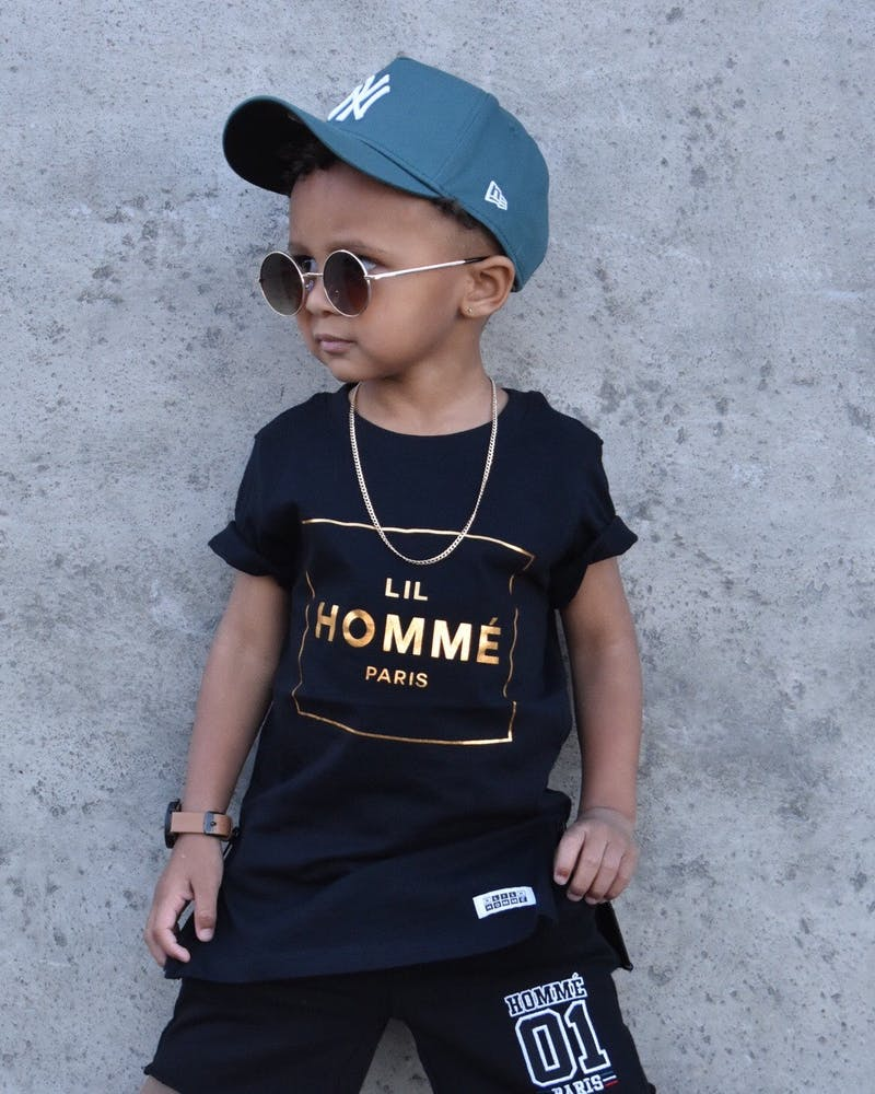 Lil Homme Capone No. 5 SS Tee Black