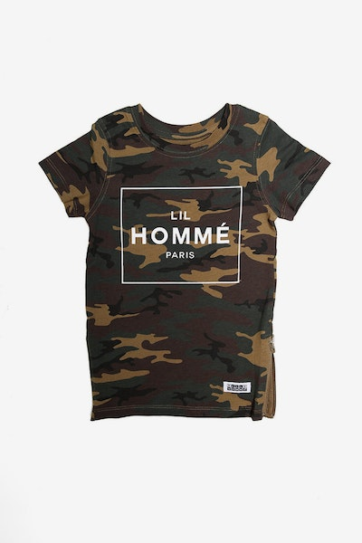 Lil Homme Capone No. 5 SS Tee Camo