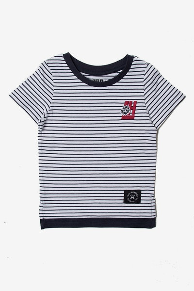 Lil Homme Faucon SS T-Shirt Navy
