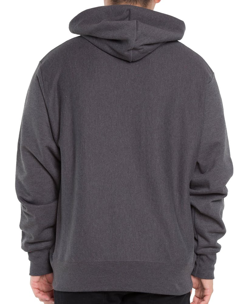 Champion Reverse Weave Big C Hoodie Granite Heather