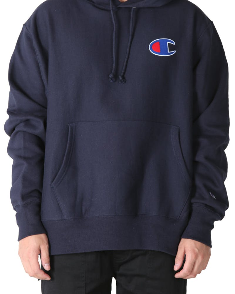 Champion Reverse Weave Big C Hoodie Navy