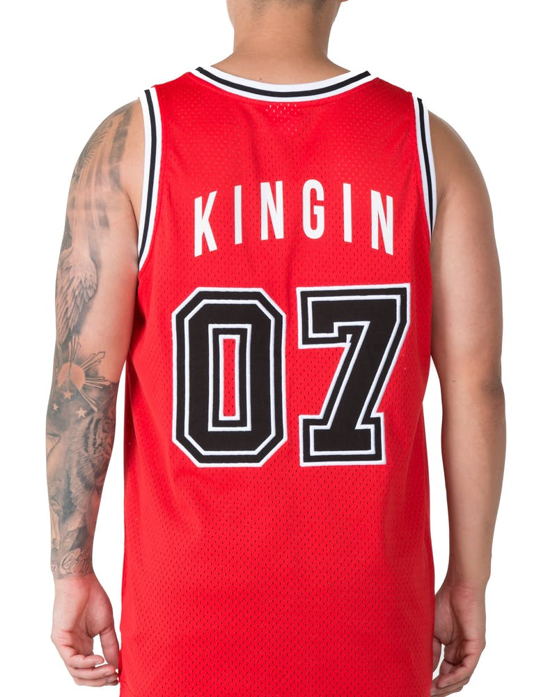 Last Kings Basketball Jersey Red/White