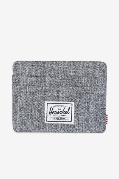 Herschel Supply Co Charlie Crosshatch Wallet Charcoal