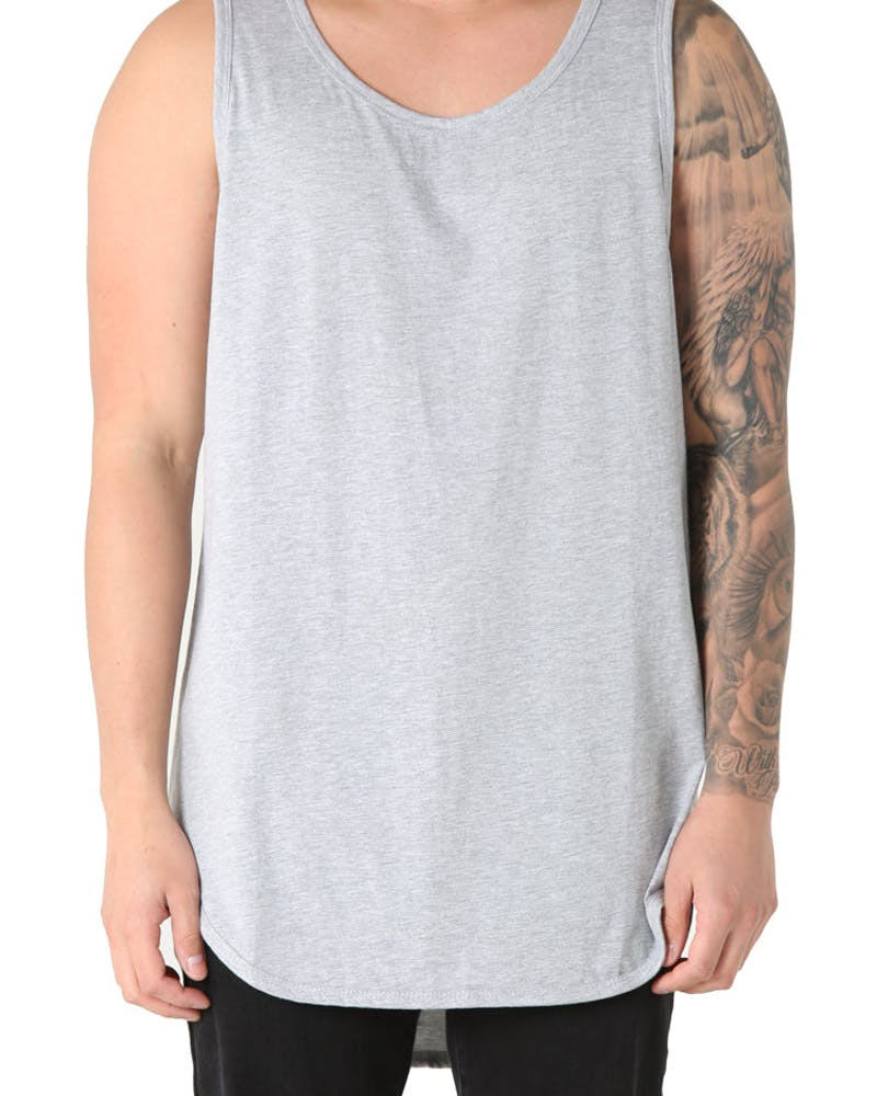 EPTM Triblend Long Tank Light Grey