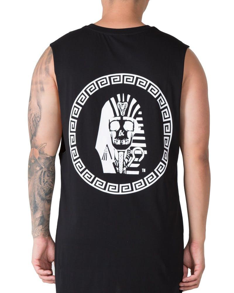 Last Kings Skull Tut Muscle Tee Black