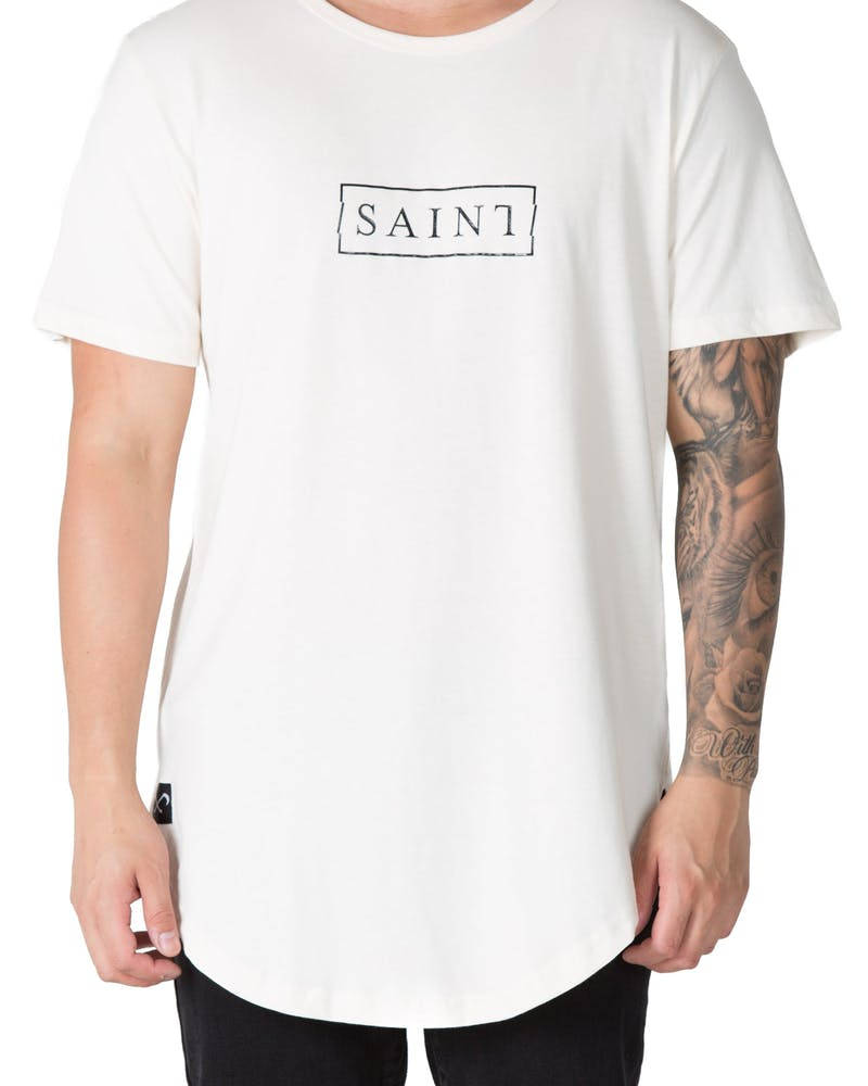 Saint Morta Crooked Logo El Duplo 2.0 Tee Off White