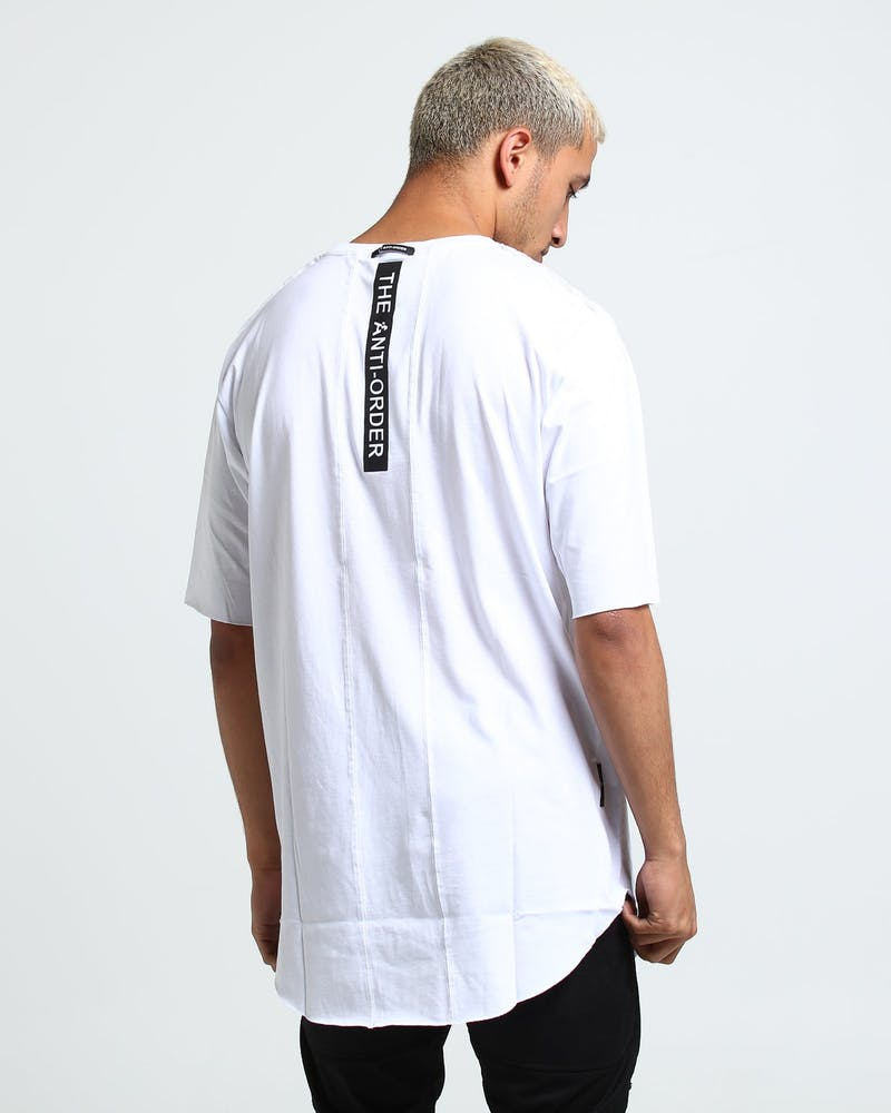 The Anti-Order Concentric Anti Symmetry Tee White