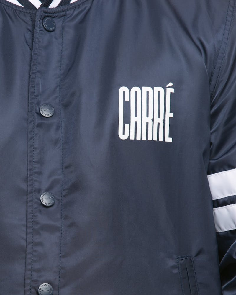 Carré Noir Varsity Jacket Navy/White