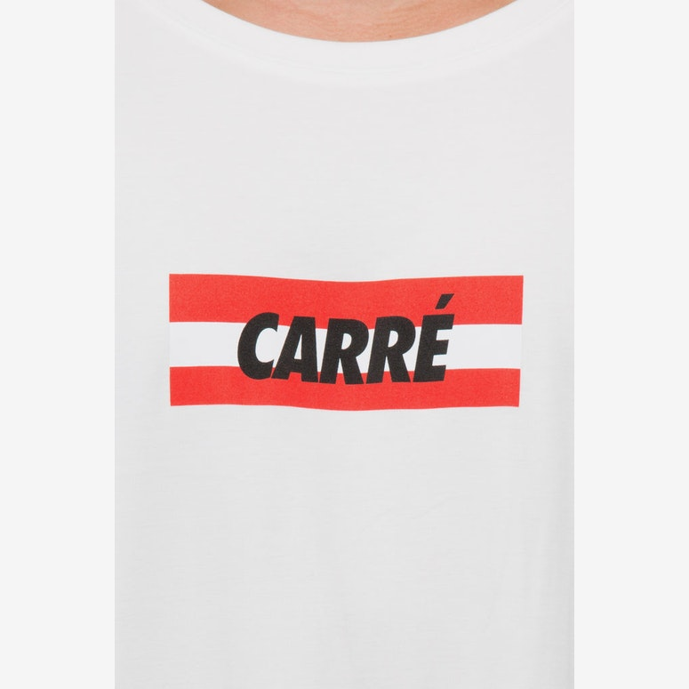 Carré Bande Incline Terreux Tee Off White