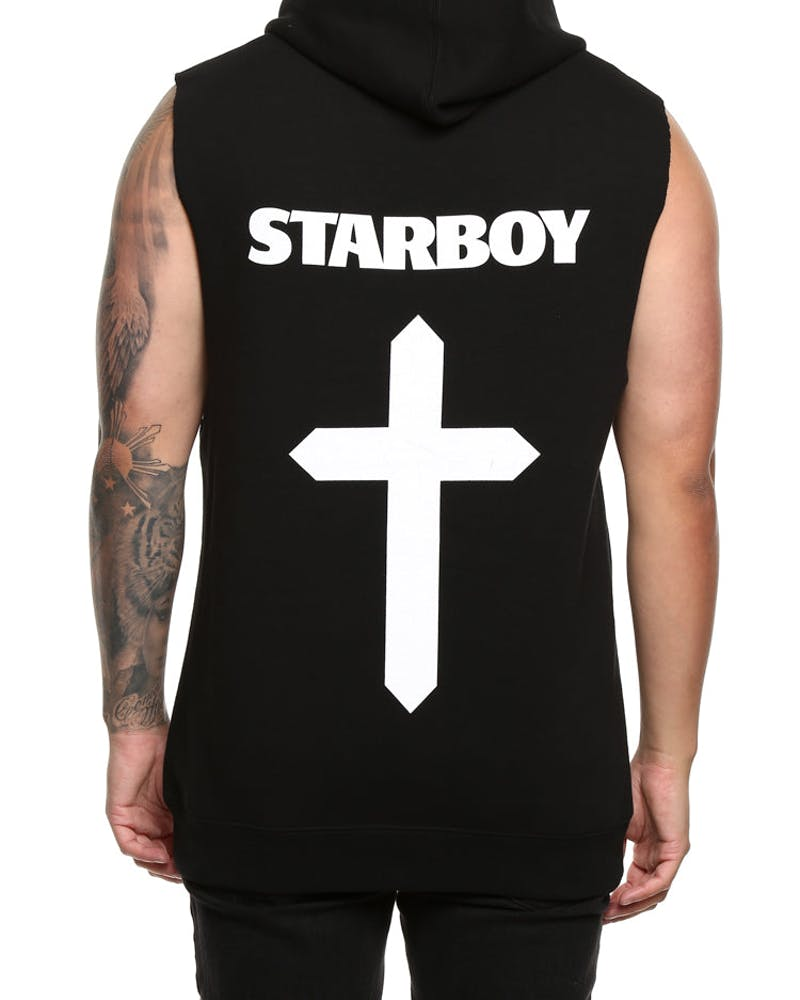 The Weeknd Symbols Sleeveless Hood Black
