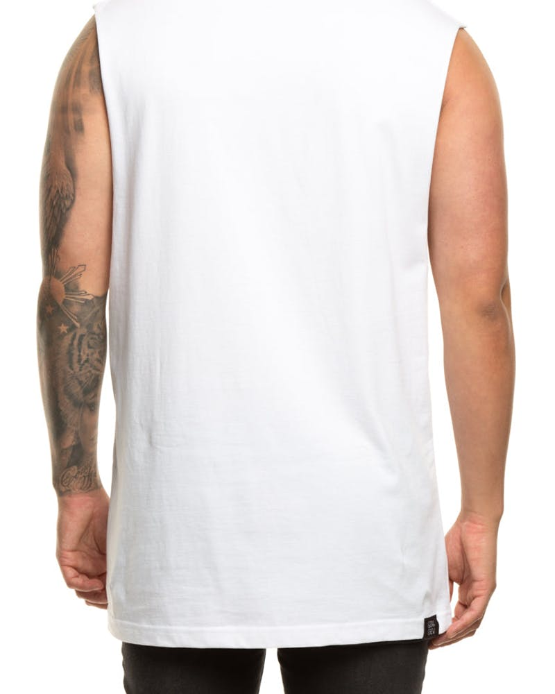 Goat Crew YD&B Muscle Tee White