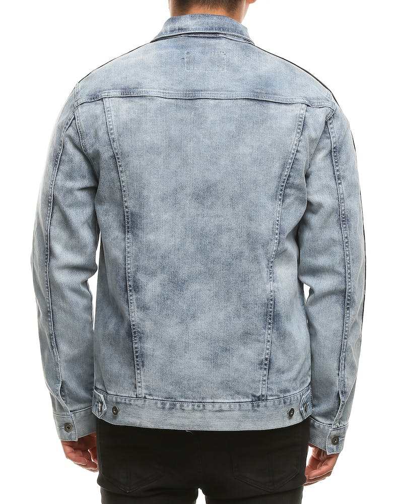 New Slaves Kit Denim Jacket Blue/Black/White