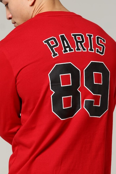 Carré Pitbulls De Base LS Tee Red