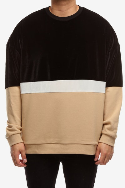 New Slaves Wavy Crew Neck Black/Pebble/White