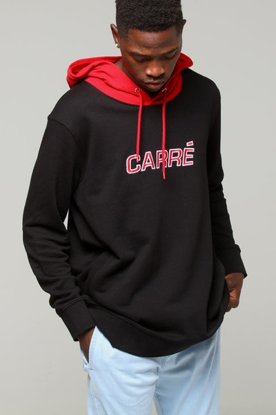 Carré Opposed Hood Black/Red