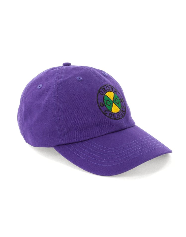 Cross Colours LA Classic Embroidered Dad Hat Purple