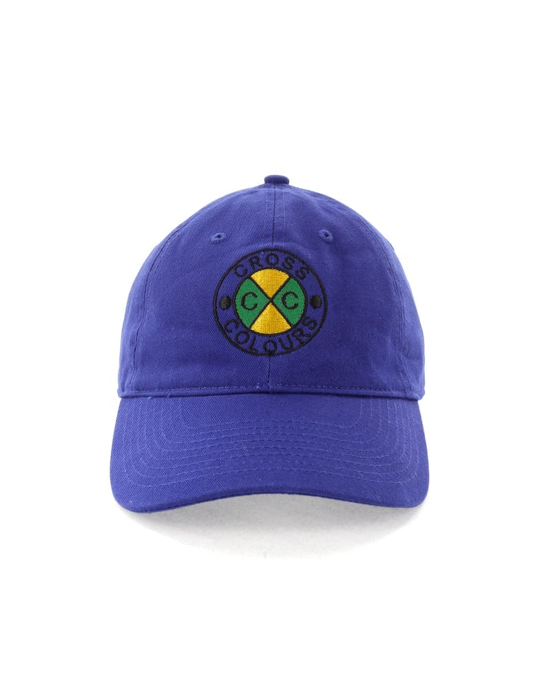 Cross Colours LA Classic Embroidered Dad Hat Blue