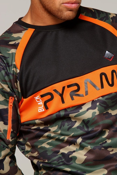 Black Pyramid Camo LS Multi-Coloured