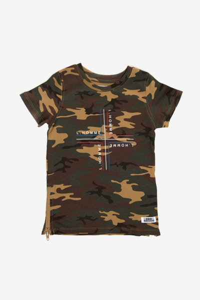 Lil Homme Rotate Capone SS Tee Camo