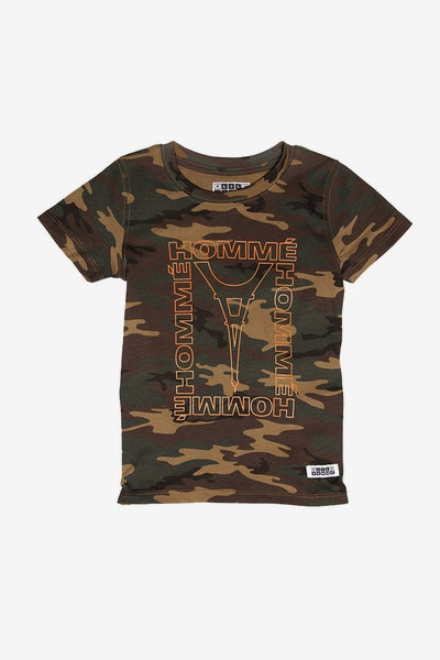 Lil Homme Contour Capone SS Tee Camo