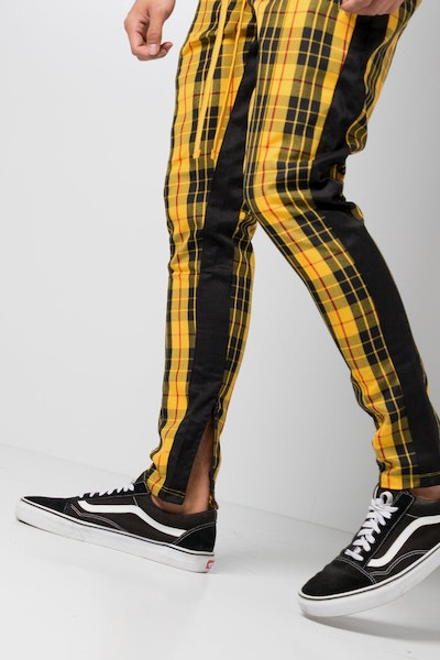 Civil Regime Clothing Mulholland Track Pants Black/Yellow