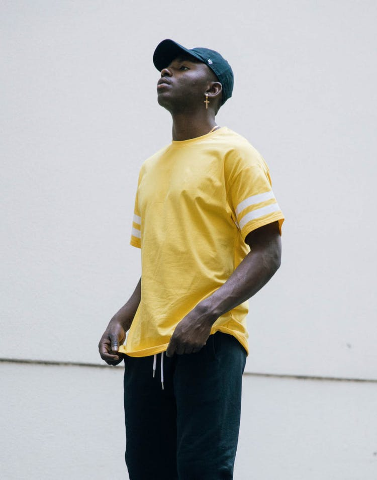 New Slaves Parallax Tee Yellow/White