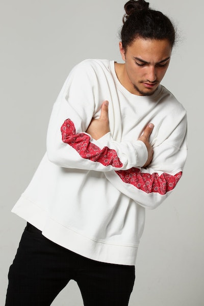 New Slaves Paisley Crew White/Red