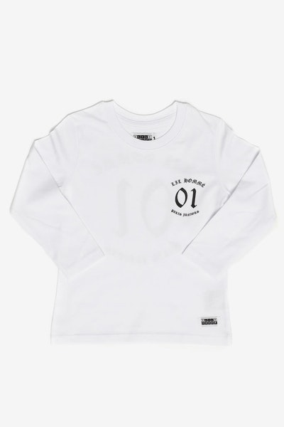 Lil Homme Ancient Long Sleeve Tee White