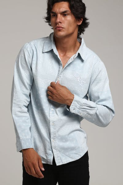 Carré Bandit Denim Button Up Light Blue