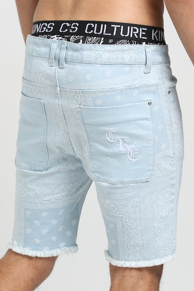 Carré Bandit Denim Shorts Light Blue