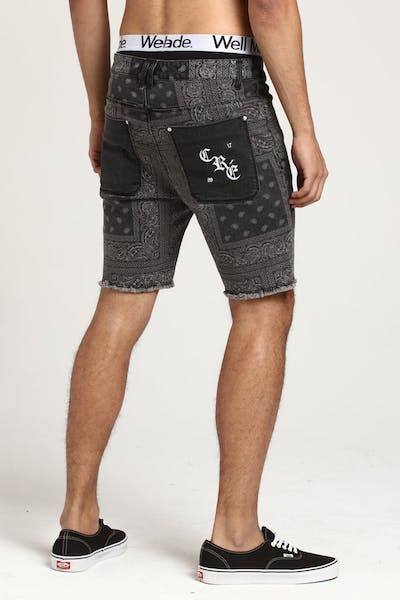 Carré Bandit Denim Shorts Black Denim