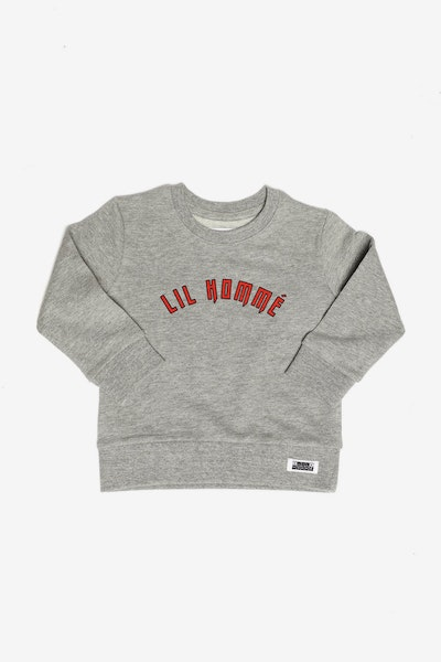 Lil Homme Vault Crew Grey/Red