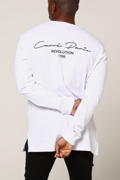 Carré Revolution Divise LS Tee White