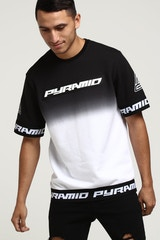 Black Pyramid Dip Dye Core SS Crewneck Black