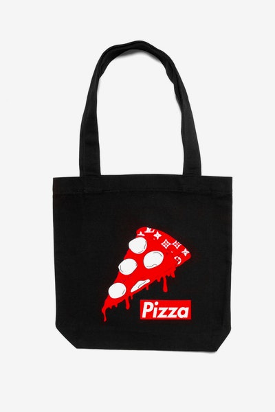Goat Crew Supreme Pizza Tote Bag Black