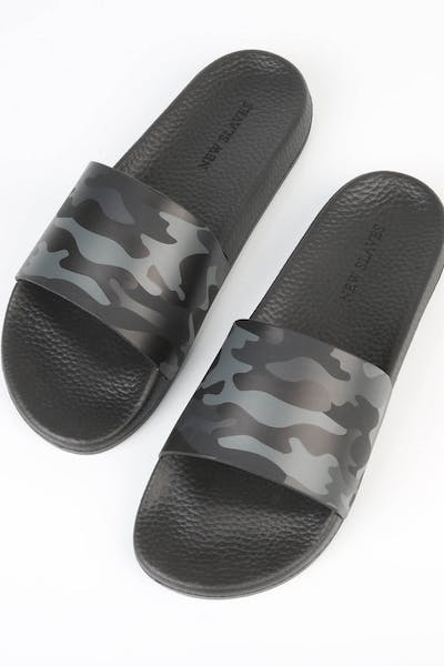 New Slaves Camo Slide Black/Grey