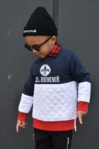 Lil Hommé LH Prominent Crewneck Navy/White/Red