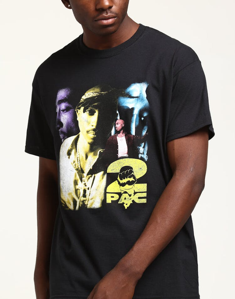 Tupac Collage Vintage Tee Black