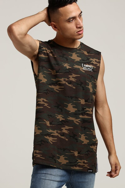 Carré Informed Divise Muscle Tee Camo