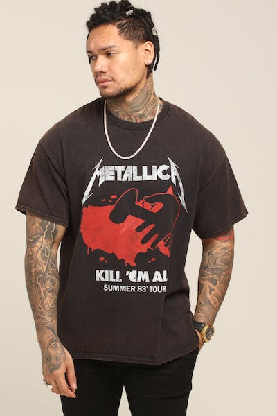 Metallica Kill 'Em All Vintage Tee Washed Black
