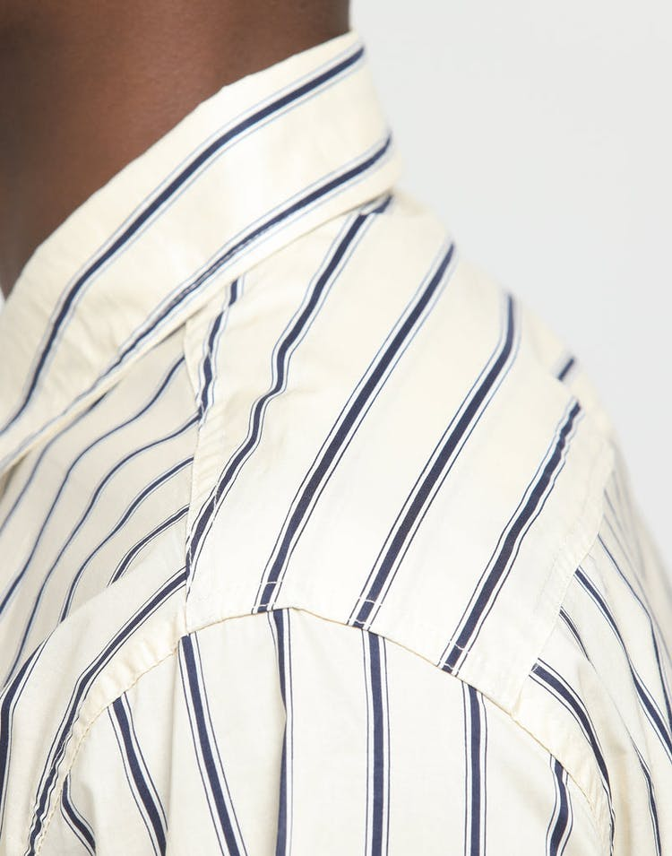 New Slaves Vintage Stripe LS Shirt Beige/Navy