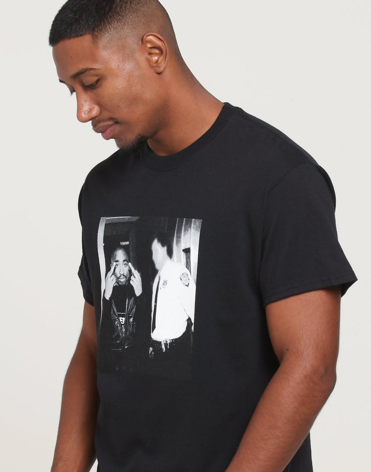Tupac Photo Finger Tee Black