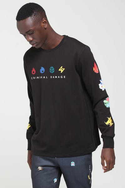 Criminal Damage X Pokémon Evolutions LS Top Black