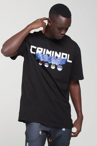 Criminal Damage X Pokémon Mew Two Tee Black