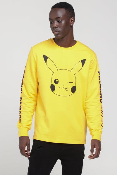Criminal Damage X Pokémon Pikachu LS Top Yellow
