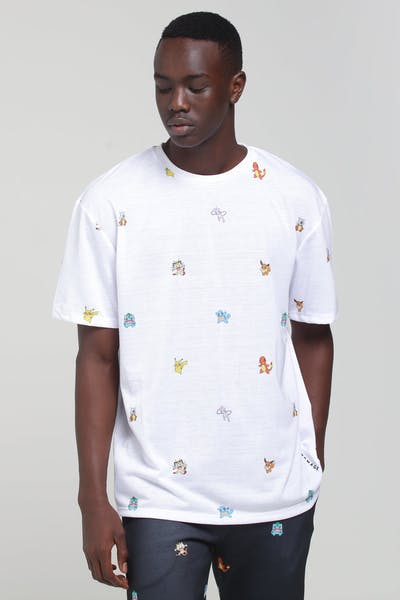 Criminal Damage X Pokémon Repeat Tee White