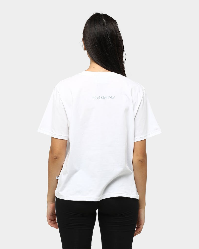 Federation Plus Dot Story Tee White